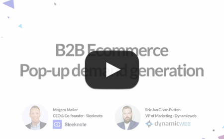 B2B E-commerce – pop-up demand generation, de do's en don'ts